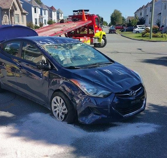 Remorquage Boissonneault - accident Granby